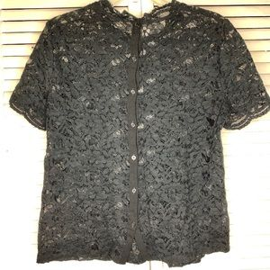 LOFT - Black Lace Top